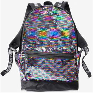 VS PINK Rainbow Bling Campus BackPack NWT